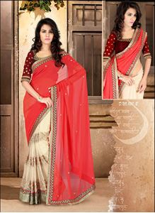 Picture of Wit Rode Half-Half Saree S012