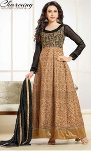 Picture of Black & Brown Anarkali A002