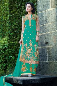 Picture of Licht Groene Palazzo Suit SS002