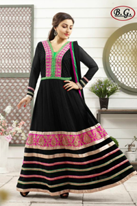 Picture of Zwarte en Roze Anarkali A014
