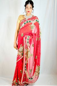 Picture of Roode Bruids Saree S017