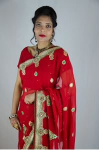 Picture of Rode Georgette Saree S021