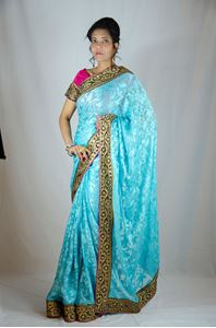 Picture of Cyaan Brasso Saree S026