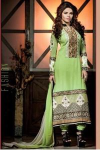 Picture of Lime Groene Georgette Salwar Kameez SS030