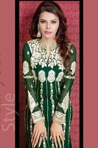 Picture of Groene Georgette Salwar Kameez SS032
