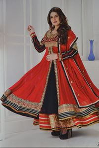 Picture of Rode en Zwarte Heavy Anarkali A032
