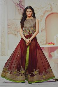 Picture of Bruinrode Tule Anarkali SS034