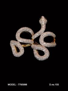 Picture of CZ Snake shaped Rings- JA011
