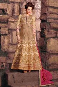 Picture of Beige Heavy Anarkali A067