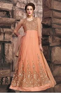Picture of Peach Heavy Anarkali A068