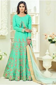 Picture of Pastel Green Anarkali A079