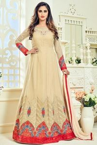 Picture of Beige Anarkali A080