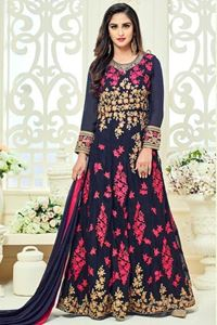 Picture of Midnight Blue Anarkali A081