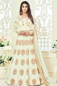 Picture of Light Ivory Anarkali A082