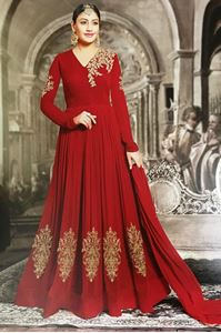 Picture of Fire Brik Anarkali / Gown A090