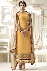 Picture of Golden Yellow Salwar Kameez SS063