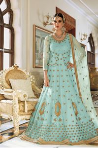 Picture of Aquamarine Heavy Anarkali A094