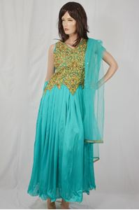 Picture of Dark Turquoise Anarkali A106