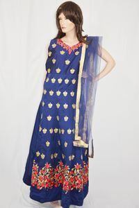 Picture of Midnight Blue Anarkali A107