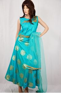 Picture of Cyan Anarkali A110