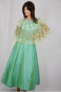 Picture of Pale Green Silk Anarkali A111