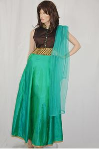 Picture of Sea Green Anarkali A112