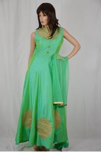 Picture of Mint Green Anarkali A113