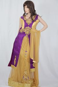 Picture of Grape Violet Anarkali A114