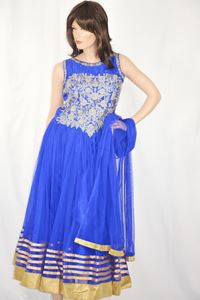 Picture of Azure Blue Anarkali A118