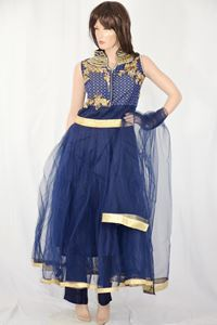 Picture of Navy Blue Anarkali A120