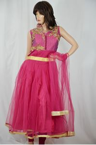 Picture of Mulberry Violet Anarkali A121