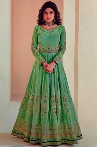 Afbeelding van Light Emerald green Anarkali A122