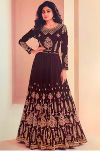 Picture of Regal Purple Anarkali A123