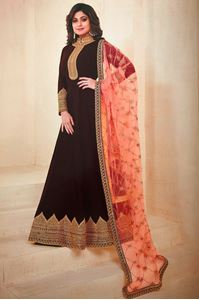 Picture of Brown Anarkali A128
