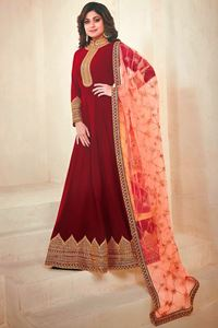 Picture of Ruby Red Anarkali A129