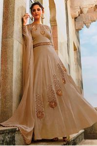 Picture of Beige Anarkali A130
