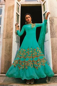 Picture of Cyan Anarkali A134