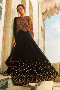 Afbeelding van Black with Jacket Anarkali A135