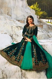 Picture of Deep & Light Turquiose Anarkali A136