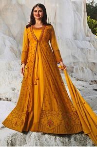 Picture of Harvest Gold Anarkali A138