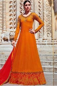 Picture of Honey Gold Anarkali A145