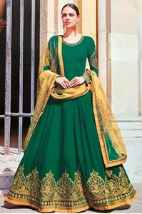 Picture of Dark Green Anarkali A147