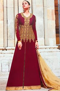 Picture of Dark Magenta Anarkali A148