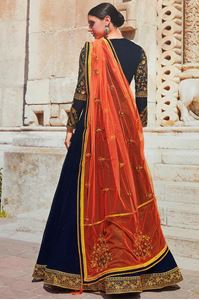 Picture of Prussian Blue Anarkali A149