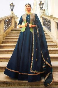 Picture of Dark Blue Prime Anarkali A150