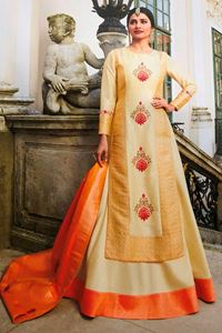 Picture of Cream & Peach Prime Anarkali A151