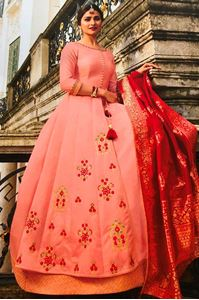 Picture of Dusty Rose Prime Anarkali A155