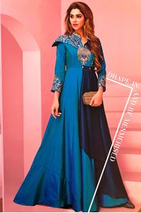 Picture of Turquiose Blue Floret Kurti K030