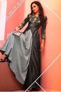 Picture of Steel Grey Floret Kurti  K031