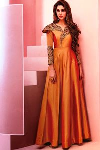 Picture of Melon Orange Floret Kurti K035
